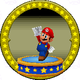 A figure with Mario on it.
