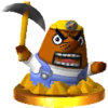 Mr. Resetti trophy from Super Smash Bros. for Nintendo 3DS