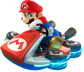 MK8 Mario Drifting Standard Kart Shadowless Artwork.png