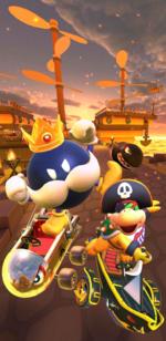 The Pirate Tour from Mario Kart Tour.