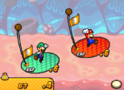 The post-battle screen from Mario & Luigi: Bowser's Inside Story