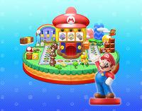 Mario as an amiibo in Mario Party 10