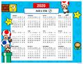 Mushroom Kingdom 2020 Calendar Creator Random 5.png