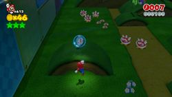 Night Falls on Really Rolling Hills level of Super Mario 3D World