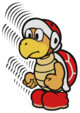 A Fire Bro 8-Stack from Paper Mario: Color Splash.