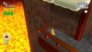 8-bit Luigi in Trick Trap Tower in Super Mario 3D World.
