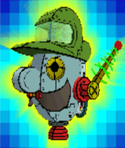 The Catch Card of the Brobot's head from Super Paper Mario