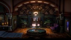 The Elevator Hall of The Spectral Catch in Luigi's Mansion 3.