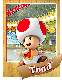 Level 1 Toad card from the Mario Super Sluggers card game
