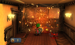 Luigi burning a web.png