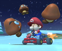 The icon of the Donkey Kong Cup challenge from the 2020 Yoshi Tour in Mario Kart Tour.