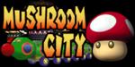 The logo for Mushroom City, from Mario Kart Double Dash!!.