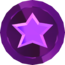 Rendered model of a Purple Coin in Super Mario Galaxy.