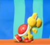 A Koopa Troopa in Yoshi's Crafted World