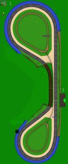 An aerial view of Luigi Raceway.