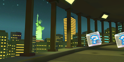 The Statue of Liberty in Mario Kart Tour
