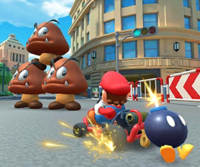 The icon of the Lakitu Cup challenge from the 1st Anniversary Tour in Mario Kart Tour