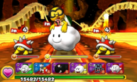 Screenshot of World 7-4, from Puzzle & Dragons: Super Mario Bros. Edition.
