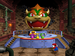 Wario in Bowser's Bigger Blast from Mario Party 4.