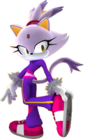 Artwork of Blaze the Cat for Mario & Sonic at the Rio 2016 Olympic Games Arcade Edition.