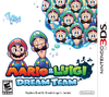 North America box art of Mario & Luigi: Dream Team