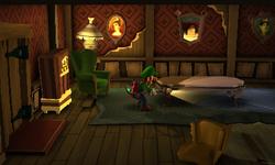 The Family Room segment from Luigi's Mansion: Dark Moon.