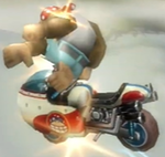 Funky Kong performing a Trick in Mario Kart Wii