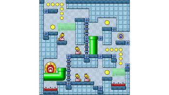 Miiverse screenshot of the 49th official level in the online community of Mario vs. Donkey Kong: Tipping Stars