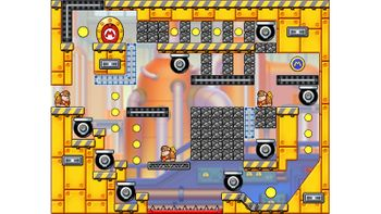 Miiverse screenshot of the 72nd official level in the online community of Mario vs. Donkey Kong: Tipping Stars