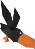 An origami Crowber from Paper Mario: The Origami King.