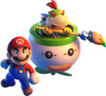 Art of Mario and Bowser Jr. from Super Mario 3D World + Bowser's Fury