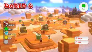 Hidden Luigi found on the World 4 map in Super Mario 3D World.