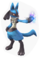 A Sticker of Lucario.