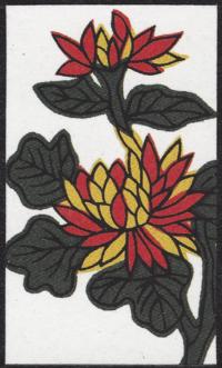 Fourth card of September in the Club Nintendo Hanafuda deck.