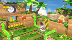 Turnip Cannon Jungle from Captain Toad: Treasure Tracker