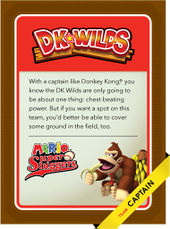 Level 3 DK Wilds card from the Mario Super Sluggers card game