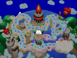 The map of Mario's Rainbow Castle