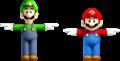 Mario and Luigi (render) - Mario Tennis Ultra Smash.png