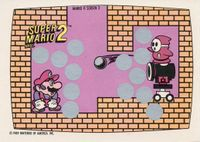 A Nintendo Game Pack scratch-off game card of Super Mario Bros. 2 (Screen 2 of 10)