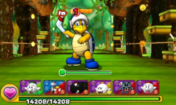 Screenshot of World 5-7, from Puzzle & Dragons: Super Mario Bros. Edition.