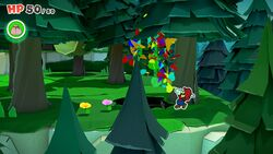 Not-Bottomless Hole No. 9 of Whispering Woods in Paper Mario: The Origami King.