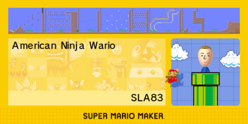Fan-made level shared by Nintendo of America on Twitter