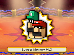An artwork of the X boss before fighting it. In this case, it's Bowser Memories M and L.