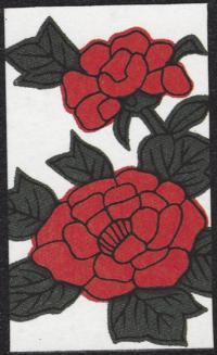 Third card of June in the Club Nintendo Hanafuda deck.