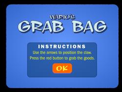 Screenshot of Wario's Grab Bag