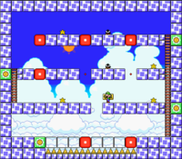 Level 7-3 map in the game Mario & Wario.