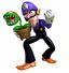 Mario Party 3 artwork: Waluigi