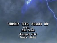 The title screen for Monkey Seer, Monkey Do
