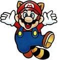 Raccoon Mario jumping SMB3 art.jpg