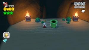 Other Luigi sighting found in Sunshine Seaside in Super Mario 3D World.